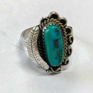 Jewelry - Vintage Native American Turquoise Sterling Ring